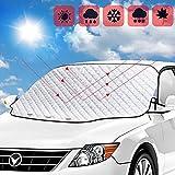 SGBETTER Copertura per parabrezza per auto Parasole per auto Protezione per parabrezza anteriore magnetica Pieghevole Protezione UV contro la neve, il ghiaccio, il gelo, la polvere 193 x 126 cm