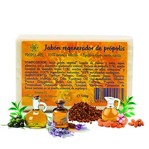 Pack x 4 Jabon propoleo x 100g c u. Jabón ecológico nutritivo, regenerador, hidratante y antiséptico. Jabon artesanal apto para todo tipo de piel.