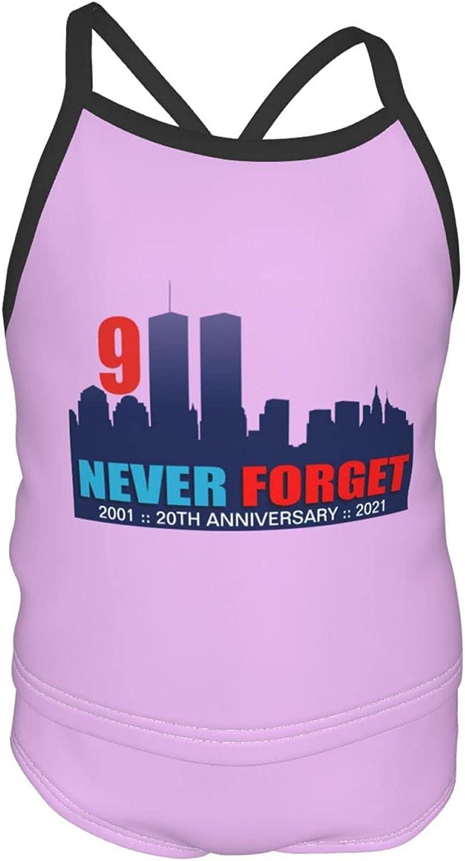 shshiqq Girls Swimsuit Two-Piece 9/11 20th Anniversary Tankini Summer Beach Sling Swimsuit 2-6t