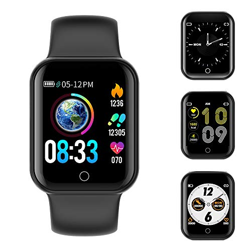Smartwatch, Fitness Armband Wasserdicht IP68 Sport Uhr mit Blutdruckmessung, Pulsuhren, Schrittzähler, Kalorienzähler, 1.4 ''Color Screen Bluetooth Smart Watch für Damen Herren Aktivitäts Tracker