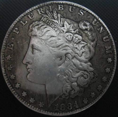 YWJHY Kupferkern 1884 Amerikanische Silbermünze aus Silber,Silber,Einheitsgröße