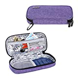 Luxja Insulin Travel Case, Insulin Bag for Insulin Pens and Other Diabetic Supplies (Bag Only), Purple