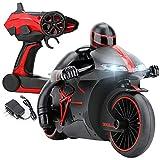 YSYDE Motocicleta RC, 360 ° Spinning Action Rotating Drift Stunt Motorbike, 2.4G Mini Fashion RC Motorcycle, para niños de 4 a 8 años en adelante
