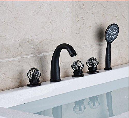 Gowe de salle de bain Largement 5pc Baignoire robinet mélangeur avec douchette Baignoire mélangeurs Couleur : Rouge