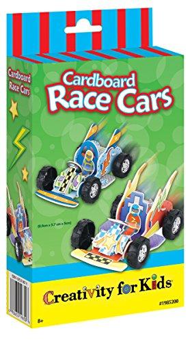 Creativity for Kids - Cfk1985 - Kit De Loisirs Créatifs - Mini-kit Karts en Carton