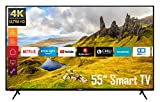 Telefunken XU55K521 55 Zoll Fernseher (Smart TV inkl. Prime Video/Netflix/YouTube, 4K UHD, HDR, HD+)