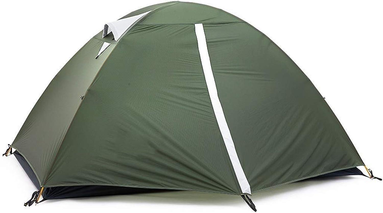 en linea XSWZAQ Campamento Doble para Acampar al al al Aire Libre Recubierto con luz de Silicona y fácil de Llevar Tienda de Alpinismo a Prueba de Lluvia. Recorrido autónomo.  servicio considerado