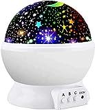 Proyector de Estrellas, Amouhom Luz Nocturna Infantil Lámpara Luz de Noche Giratoria de 360 Grados para Niños,El Mejor regalo para Niños para Navidad, Halloween y Los Reyes Magos.