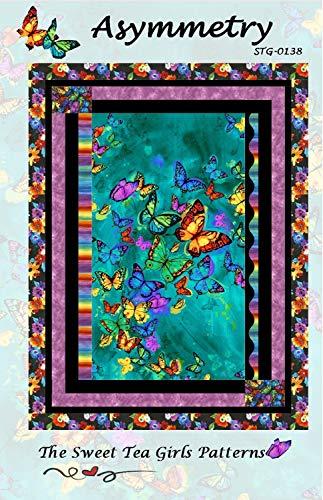 "Asymmetry Quilt Pattern by The Sweet Tea Girls 42"" x 55"" STG-0138"