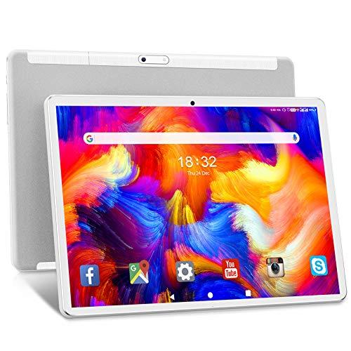 Tablet 10.1 Pollici ANTEMPER Android 10.0 Tablets Octa-Core - 1920x1200 FHD IPS,13MP Doppia Fotocamera, Batteria 6000mAh 32GB ROM,128GB Expandable Storage, Wi-Fi  GPS  Bluetooth  FM  OTG - Bianco