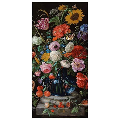 Bilderwelten Panel japones - De Heem - Vase Flowers 250 x 120cm Incl. Soporte Transparente