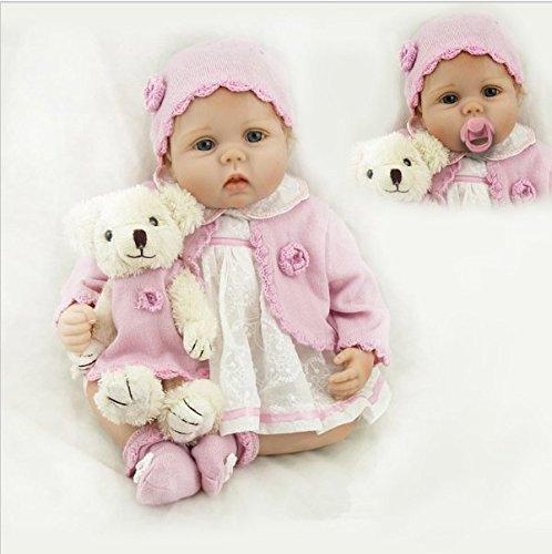 Bambola Reborn Femmine 22 Pollici 55CM Silicone Vinile Reborn Bebe Dolls Morbido Really Touch Flessibile Bimba Bambole Regali di Compleanno Regalo di Festa Anatomicamente Corretto