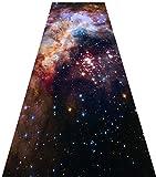 QIANCHENG-carpets Alfombra De Pasillo 3D con Antideslizante, Suave Alfombra de Entrada Perfecto for la Escalera de la Cocina del Dormitorio,Cielo Estrellado/Espacio 80x250cm (Size : 80x250cm)