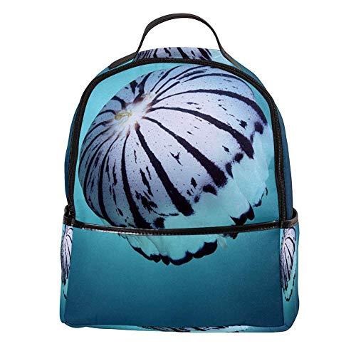 Rucksack Damen und mädchen Laptop Rucksack Kinder Herren Vintage Reisen und Schule Diebstahlsicherer Backpack for Backpacker Undersea World Fish C64 31x14.5x37cm