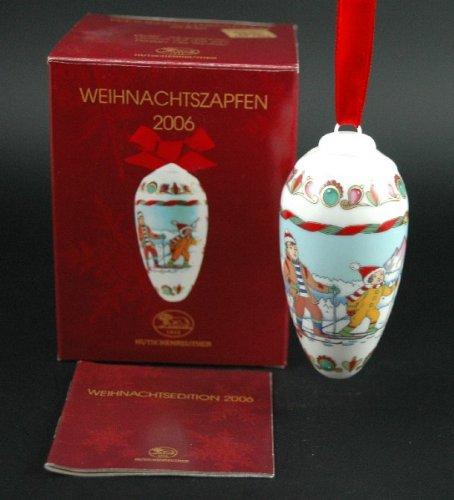 Hutschenreuther Weihnachtszapfen 2006, Baumanhänger, Baumschmuck, Anhänger, Weihnachten, Porzellanzapfen