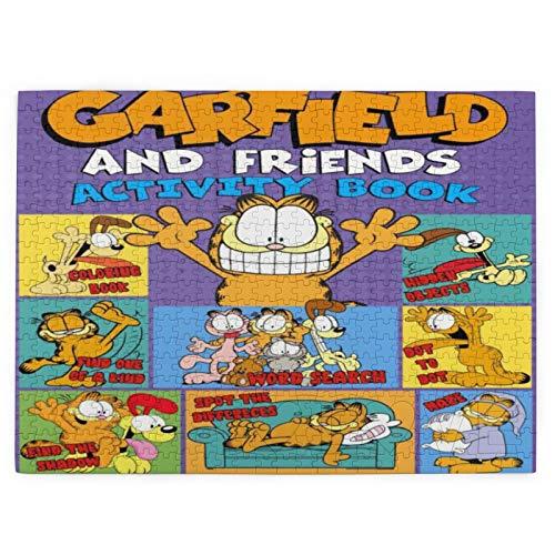 Custom made Garfield Rompecabezas para adultos 520 piezas Puzzle para niños y adultos juego desafiante