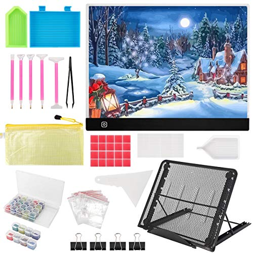 B4 Diamond Painting LED Light Pad Kit,LED Artcraft Tracing Light Table,DIY Dimmable Light Brightness Board,Reusable B4 Painting Pads Great for Full Drill & Partial Drill 5D Diamond Painting.