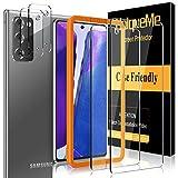 [2 Pack]UniqueMe Protector de Pantalla y [2 Pack] Protector de lente de cámara para Samsung Galaxy Note 20 (6.7 pulgada) 4G / 5G, [Cobertura máxima][Sin Burbujas] HD Cristal Vidrio Templado