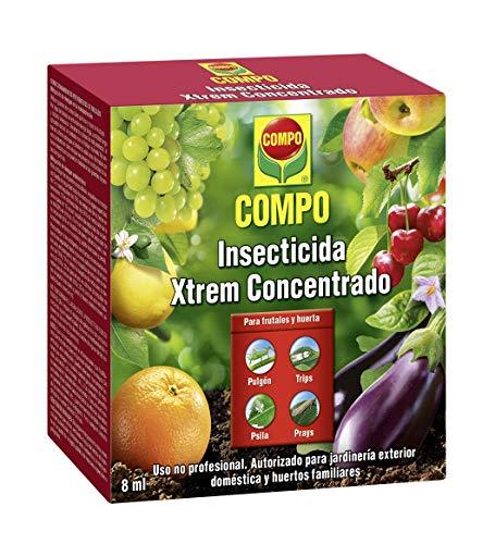 COMPO Insecticida Xtrem Concentrado, Insecticida concentrado para plantas hortícolas y frutales, Apto para jardinería doméstica, 8 ml, 2195002011