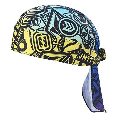 HEROBIKER Sweat Wicking Skull Cap Beanie Bandana Helmet Liner Outdoor Running Adjustable (Yellow)