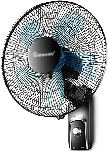 TANKKWEQ Ventilador de Pared oscilante, Ventilador oscilante de Montaje en Pared de 18 Pulgadas, configuración de 3 velocidades, operación silenciosa, para Oficina en casa y Dormitorio, Negro