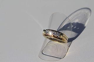 vintage13.de Anello da Donna in Oro 585 con 3 Brillanti di Circa 0,3 carati Gr. 52 magnifici