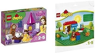 レゴ(LEGO) デュプロ ベルのティーパーティ 10877 & デュプロ 基礎板(緑) 2304