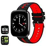 feifuns Fitness Tracker Watch, 1.3' Color Touchscreen with Heart Rate Watch Blood Pressure Monitor, IP67 Waterproof, Step Counter Watch, Pedometer, Sleep Monitor, Smart Watch for Women Men Kids