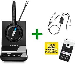 Avaya Compatible Sennheiser SDW 5015 Wireless Headset Bundle for Avaya Phones, PC/MAC with Avaya EHS Adapter | Compatible Avaya Phones: 2420, 5420, 4610, 4610SW, 4620, 4620SW, 4621, 4621SW, 4622