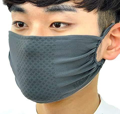 銅糸入りマスク 冷感速乾素材 息苦しくないスポーツマスク