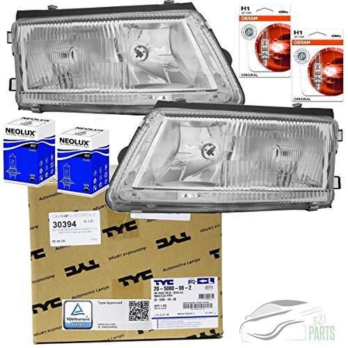 DM Autoteile Passat 3B Scheinwerfer Set Klarglas ohne Nebelscheinwerfer H7/H1 96-00+BIRNEN