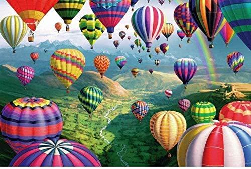 Puzzle de 1000 Piezas de Rompecabezas de Madera Colorido Globo aerostático Rompecabezas Decorativo-Rompecabezas para Adultos-Regalo Rompecabezas Educativo-Rompecabezas de Juguete para niños