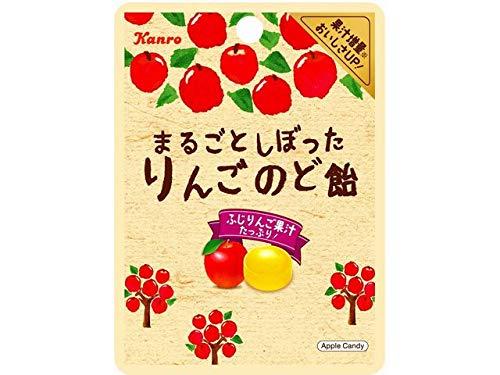 カンロ まるごとしぼったりんごのど飴 小袋 1箱(6袋)