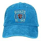 Pa Guard Longbow Salutebaseball Cap Men Women Classic Washed Denim Adjustable Dad Hat
