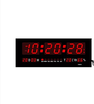 VORCOOL LED Despertador Digital Reloj Luminoso Display Calendar Temperature - Inglés