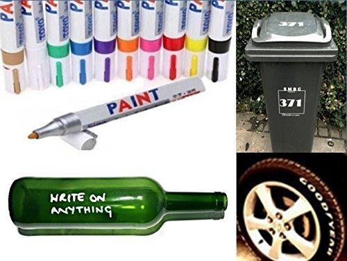 Rotulador permanente universal a base de aceite, pintura para cristal, metal, neumáticos de caucho, papelera, 8 unidades