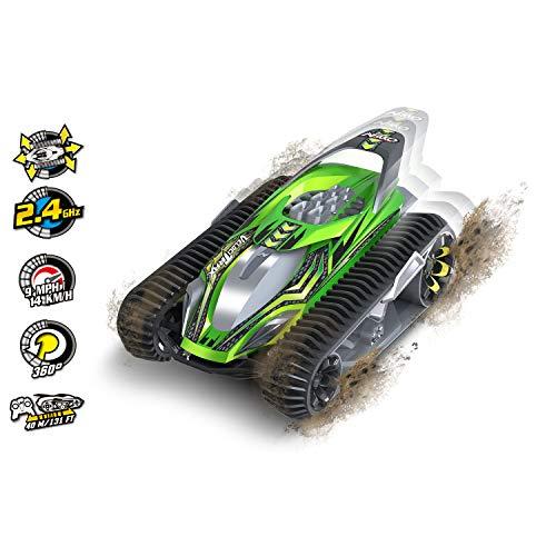 Nikko – VelociTrax – Steuerbares Auto – Ferngesteuertes Auto 360 Grad Drehungen – RC Auto mit Batterie – Raupenfahrzeug für Kinder – 22 x 31 x 18 cm – Neongrün