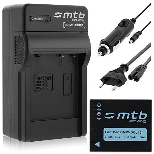 Batería + Cargador (Coche/Corriente) para Panasonic BCJ13E, Lumix DMC-LX5, LX7 / Leica D-Lux 6. Ver Lista!
