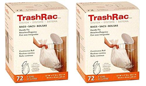 Trashrac 5 gal. Trash Bags Handle Tie 72 pk