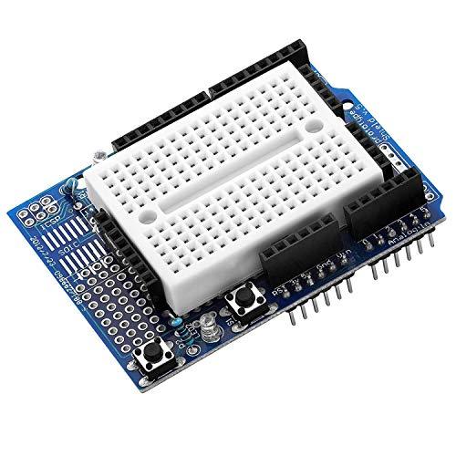 AZDelivery ProtoShield Prototipo Prototype Prototyping Shield + Placa de Pruebas Mini Breadboard para Arduino con Ebook Incluido