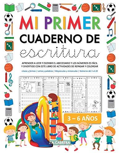 Mi primer cuaderno de escritura: Aprender a leer y escribir el abecedario y los números es fácil y divertido con este libro de actividades de repasar ... Mayúsculas y Minúsculas | Números del 1 al 20