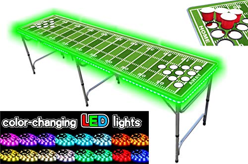 Check Out This PartyPongTables PPT-082220213 Football Field with Cup Holes & LED Lights