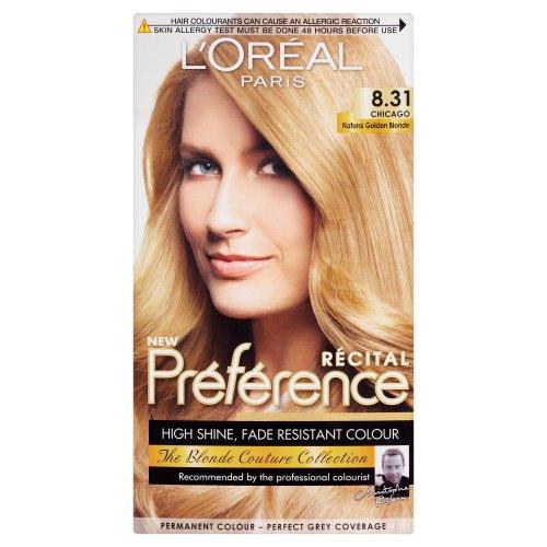 L'Oréal Paris Récital Préférence Chicago Natural Golden Blonde 8.31