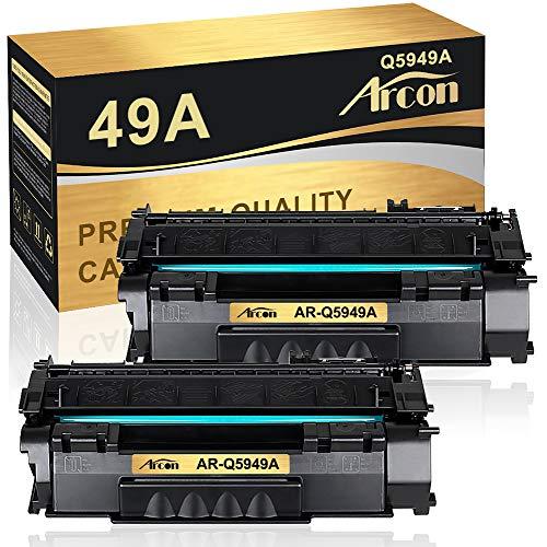Arcon Compatible Toner Cartridge Replacement for HP 49A Q5949A 49X Q5949X 53A Q7553A HP Laserjet 1320 1320n P2015 P2015dn P2014 3390 1160 P2015d 1320tn M2727nf Toner Cartridge Ink (Black, 2-Pack)