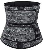 HOPLYNN Neoprene Sweat Waist Trainer Corset Trimmer Belt for Women Weight Loss, Waist Cincher Shaper Slimmer Gray Medium 02
