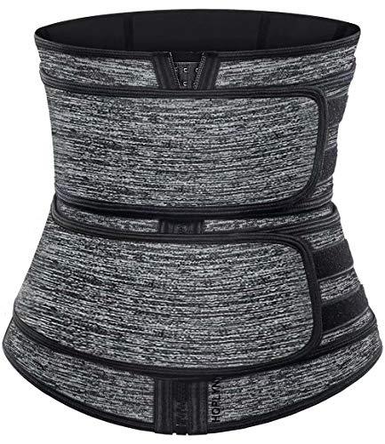 HOPLYNN Neoprene Sweat Waist Trainer Corset Trimmer Belt for Women , Waist Cincher Shaper Slimmer Gray XX-Large