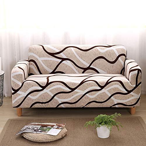 ASCV Fundas de sofá elásticas Protector de Muebles elástico Funda de sofá l Funda de sillón para Sala de Estar 1/2/3/4 plazas A7 3 plazas