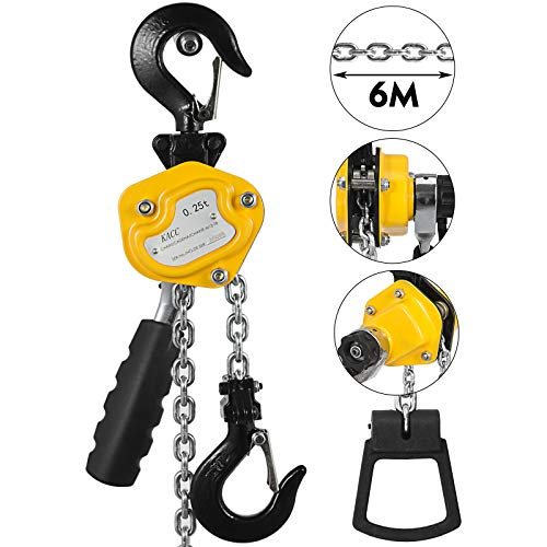 Mophorn 0.25T Lever Block Chain Hoist 4.5M 15Ft Chain Hoist Alloy Steel G80 Chain Ratchet Lever Hoist with Hook