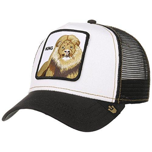 Goorin Bros. King Trucker Cap Mesh Meshcap Basecap Baseballcap Kappe Käppi Curved Brim (One Size - weiß)