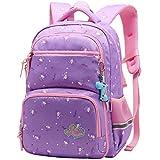 Vbiger Rucksack Mädchen Schulrucksack Kinder Rucksack Schultasche für mädchen (Lila 1)